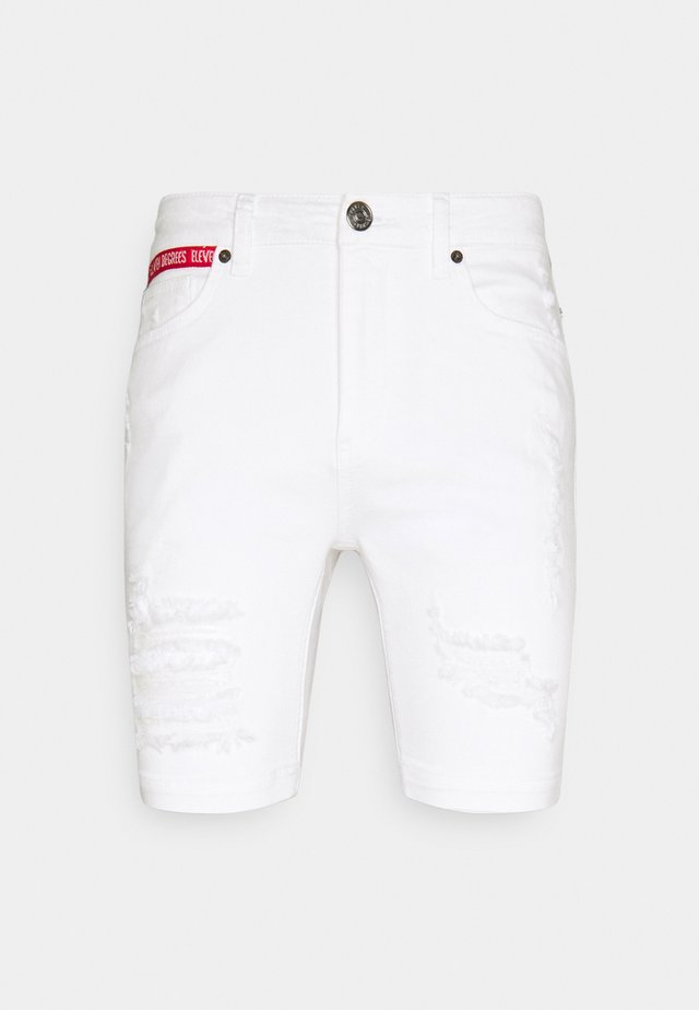 RIP AND REPAIR SKINNY FIT - Shorts di jeans - white