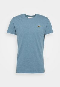 REVOLUTION - REGULAR - Basic T-shirt - blue melange - 4