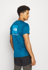 The North Face - REAXION BOX TEE - Print T-shirt - moroccan blue - 2