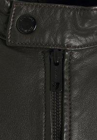 Strellson - DRIVER - Leather jacket - dark brown - 8