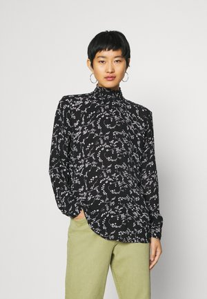 BLOUSE - Blouse - black/chalk