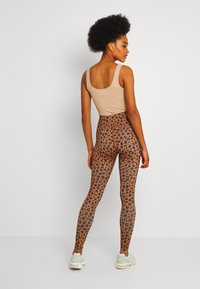 Never Fully Dressed - LEOPARD - Leggings - Trousers - brown - 2