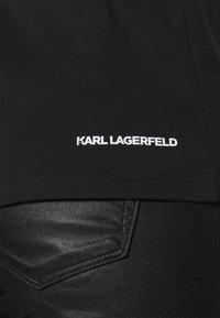 KARL LAGERFELD - IKONIK RHINESTONE KARL - T-Shirt print - black - 5