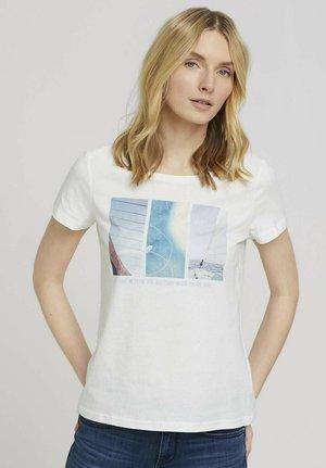 T-shirt print - dove white