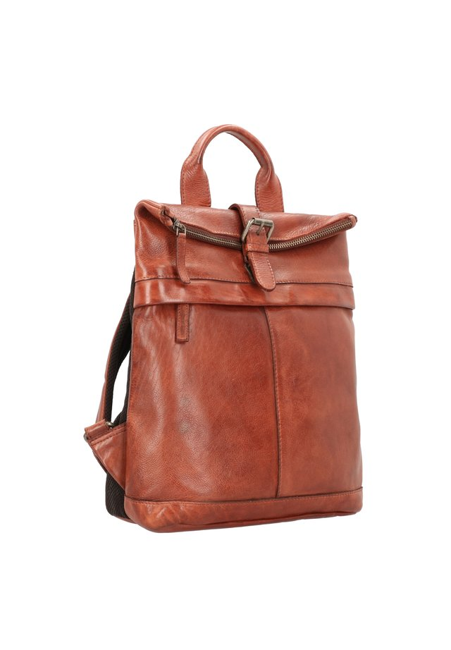 VINTAGE WASHED CITY - Rucksack - cognac
