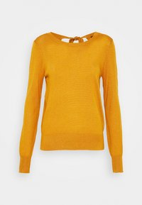 VMFELICITY LS O NECK BOW BLOUSE - Jersey de punto - buckthorn brown