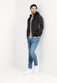 Alpha Industries - HOOD - Bomber Jacket - black - 1