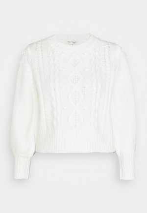 MISS ECO CHUNKY DETAIL BOBBLE - Jumper - cream