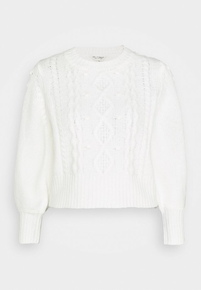 MISS ECO CHUNKY DETAIL BOBBLE - Pullover - cream