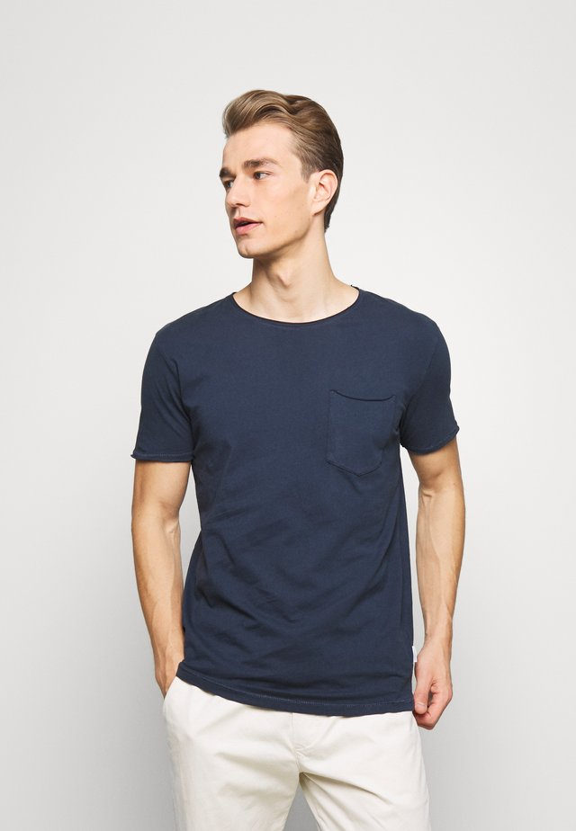 WASHED TEE - T-shirts - dark blue