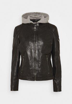 ANGY - Kožená bunda - black