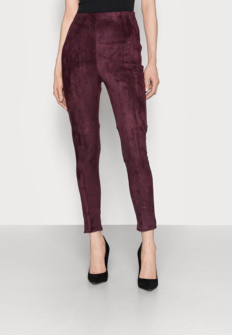 Missguided Tall - Leggings - Trousers - plum