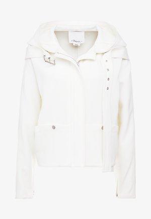 STRUCTURED HOODED JACKET - Veste légère - white