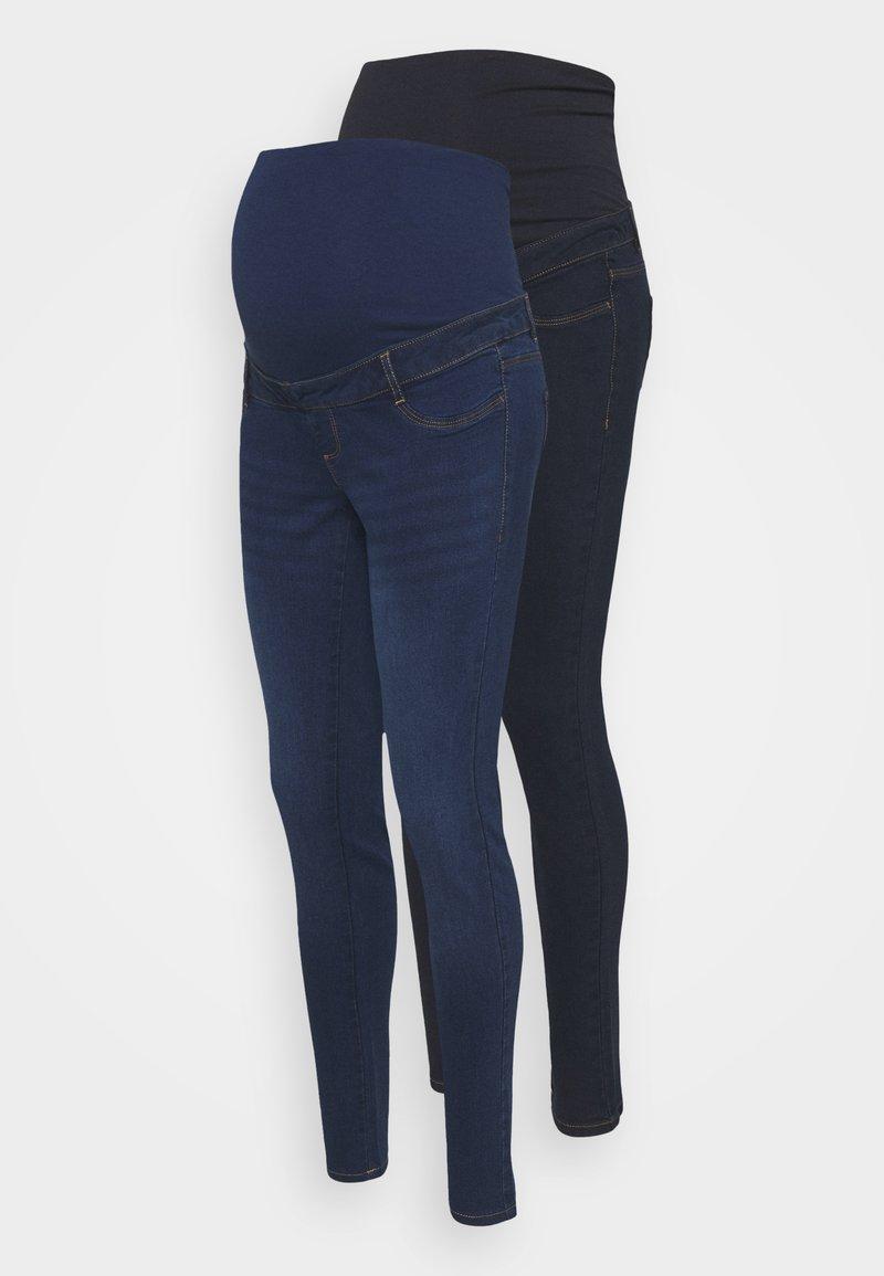 Dorothy Perkins Maternity - OVER BUMP ELLIS SKINNY 2 PACK - Jeans Skinny Fit - midwash /indigo