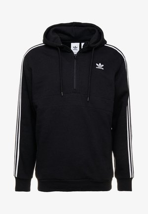 ADICOLOR 3 STRIPES HALF-ZIP HOODIE - Hoodie - black