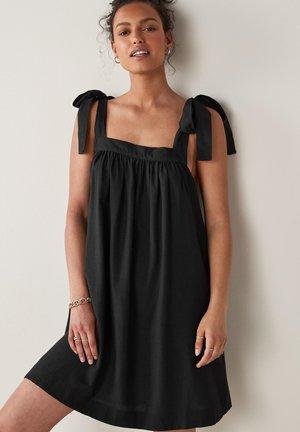 TIE SHOULDER MINI - Day dress - black