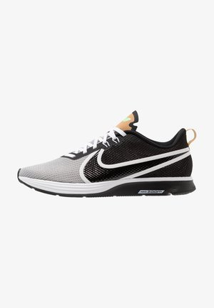 ZOOM STRIKE 2 - Competition running shoes - white/black/light brown