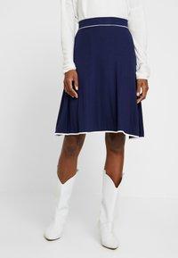 Anna Field - BASIC - Áčková sukně - dark blue - 0