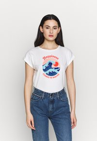 Dedicated - MYSEN HAPPINESS - T-shirt con stampa - offwhite - 0