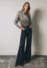 Massimo Dutti - Button-down blouse - silver - 0