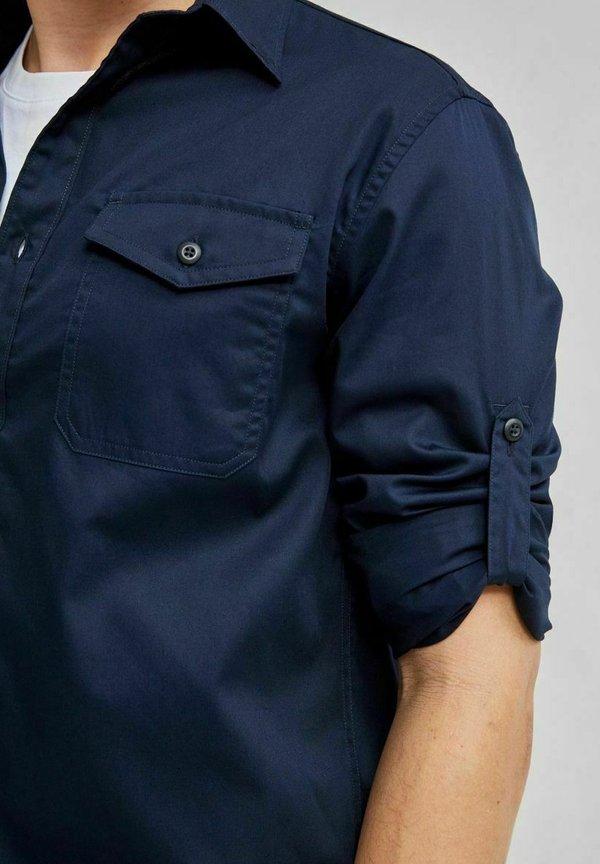 Selected Homme Koszula - navy blazer/granatowy melanż Odzież Męska MDWD