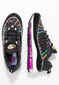 Nike Sportswear - AIR MAX 98 PRM - Trainers - black/flash crimson/kinetic green/psychic purple/universe gold/white - 3