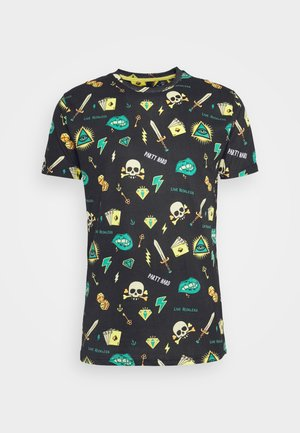 CONVEX - T-shirt med print - black