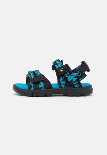 2 IN 1 UNISEX - Walking sandals - black/blue