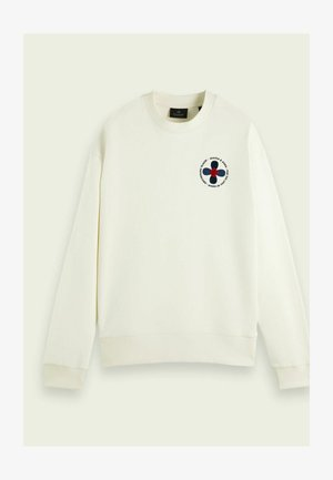 RELAXED CREWNECK WITH ARTWORK - Collegepaita - off white