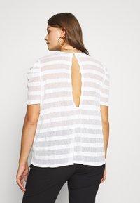 Lost Ink Plus - STRIPED SMOCK - T-shirt print - cream - 2