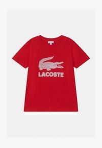 Lacoste - T-shirt imprimé - rouge - 0