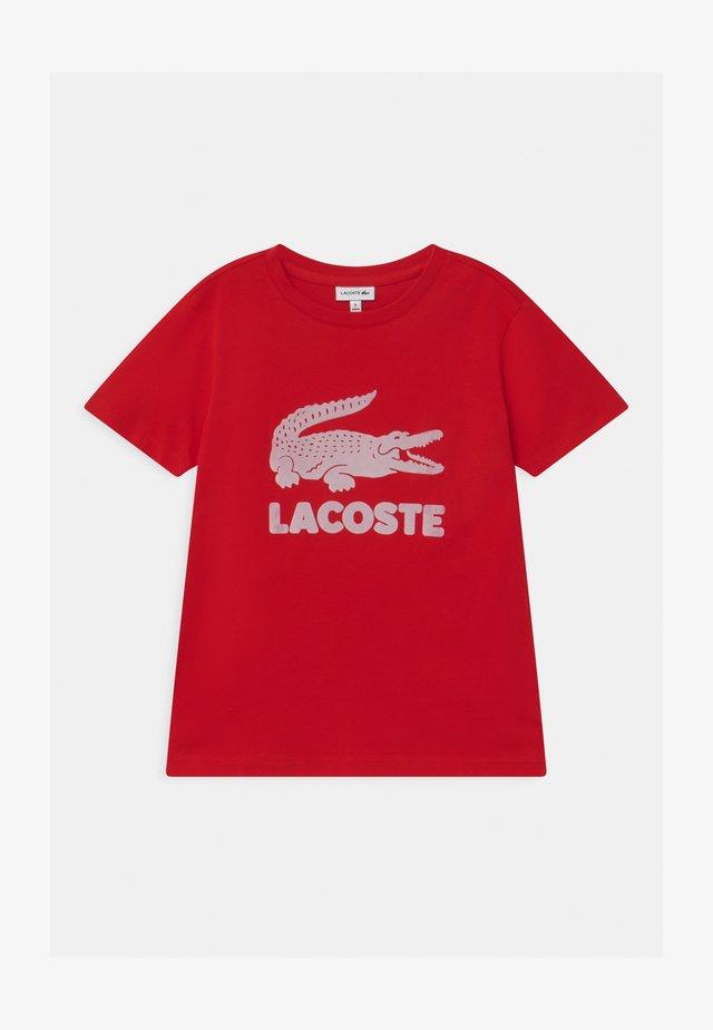 T-shirt z nadrukiem - rouge
