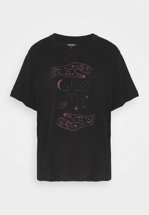 TOVI TEE  - T-shirt con stampa - black/lilac