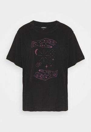 TOVI TEE  - T-shirts med print - black/lilac