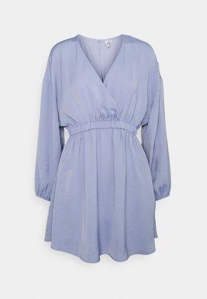 VOLUME WRAP DRESS - Day dress - dusty blue