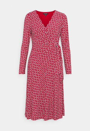 PRINTED MATTE DRESS - Jerseykjoler - orient red