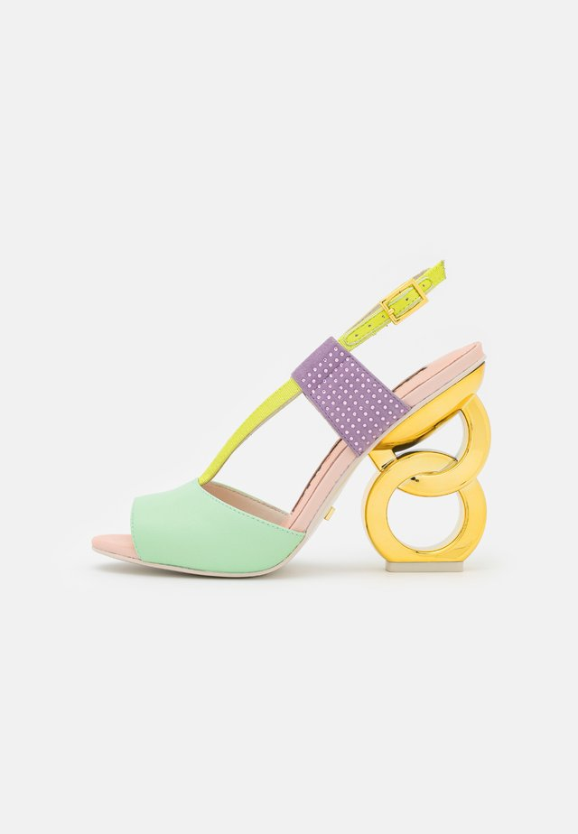 HALLE - Sandály na vysokém podpatku - spearmint/crystal pink
