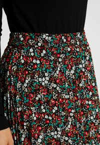 ONLY Petite - ONFLMISHA PLISSE SKIRT - A-line skirt - black/neon summer ditsy - 4
