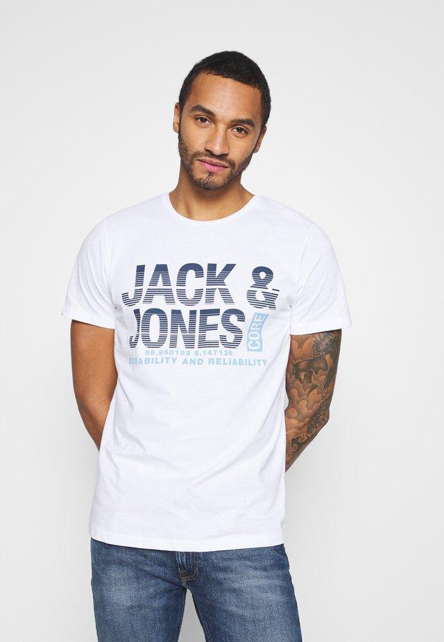 JCOROPE TEE CREW NECK - Print T-shirt - white
