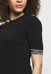 KARL LAGERFELD - PUFF LOGO - T-shirt imprimé - black - 4