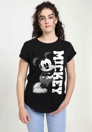 DISNEY CLASSICS MICKEY LEAN - T-shirt print - black