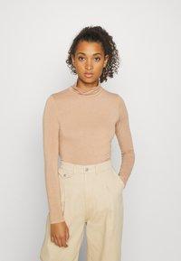 YAS - YASWOOLA - Long sleeved top - tawny brown - 0