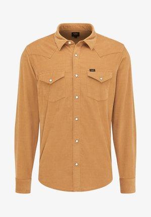 REGULAR WESTERN - Shirt - tobacco brown