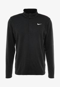 Nike Golf - NIKE DRI-FIT VICTORY HERREN-GOLFOBERTEIL MIT HALBREISSVERSCHLUSS - Funktionstrøjer - black/black/white - 3