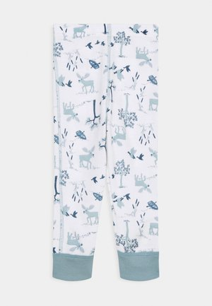 Leggings - Trousers - light blue/off white
