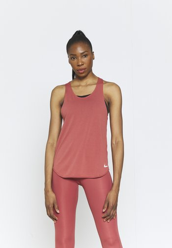 BREATHE TANK COOL - Top - canyon rust/reflective silver