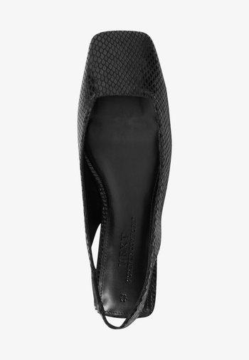 SQUARE TOE  - Slingback ballet pumps - black