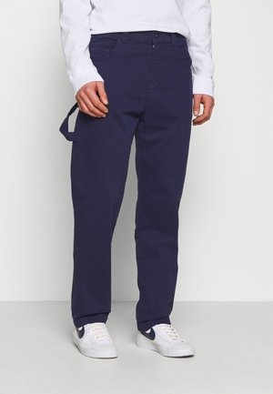 DRILL STRAIGHT LEG TROUSER - Trousers - navy