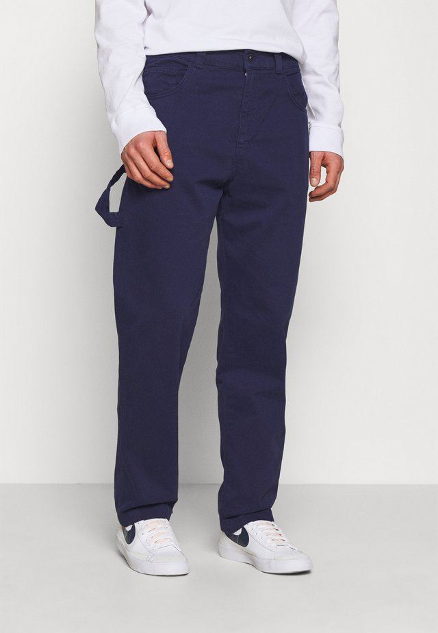 DRILL STRAIGHT LEG TROUSER - Tygbyxor - navy