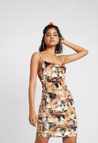 NEW girl ORDER - ORIENTAL PRINT DRESS STRAPS - Fodralklänning - multi - 0